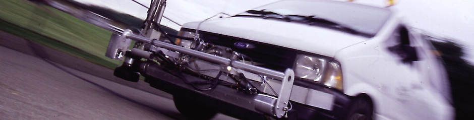 Optical Methane Detector mounted on a survey truck